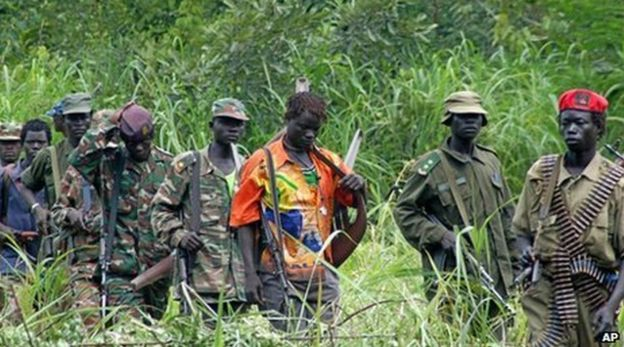 The LRA is accused of forcing young boys to become fighters (AP photo)