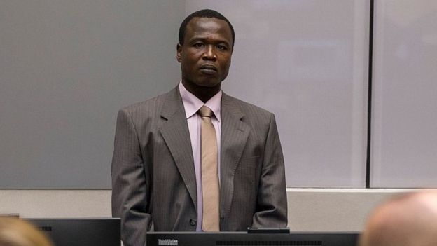 Mr Ongwen's arrest was big news last year, he is accussed of ordering cannibalism, among other charges ( AFP photo)