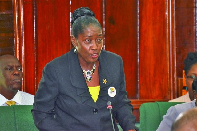 Minister within the Communities Ministry, Valerie Sharpe-Patterson