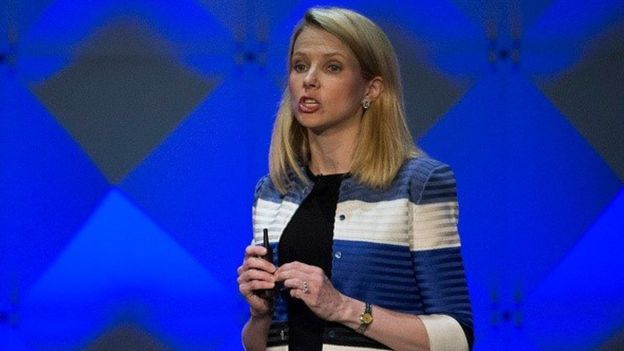 Yahoo chief executive Marissa Mayer is negotiating the sale of Yahoo's core business to Verizon (Getty Images)