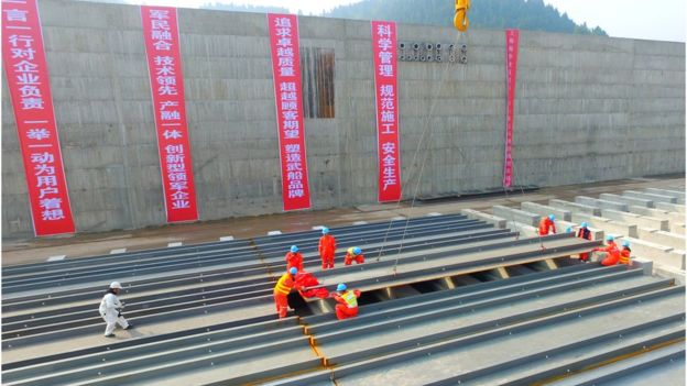 The company first announced plans for the 1 billion yuan (£115m) project in 2014, AFP reports (Getty Images)
