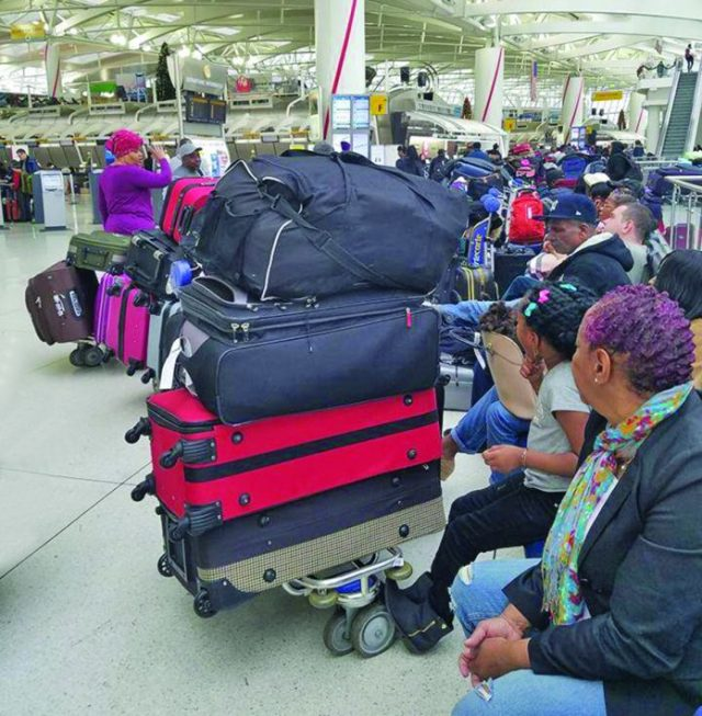 Hundreds of passengers were camped out at JFK waiting for their Christmas-bound Dynamic Airways flight to Guyana