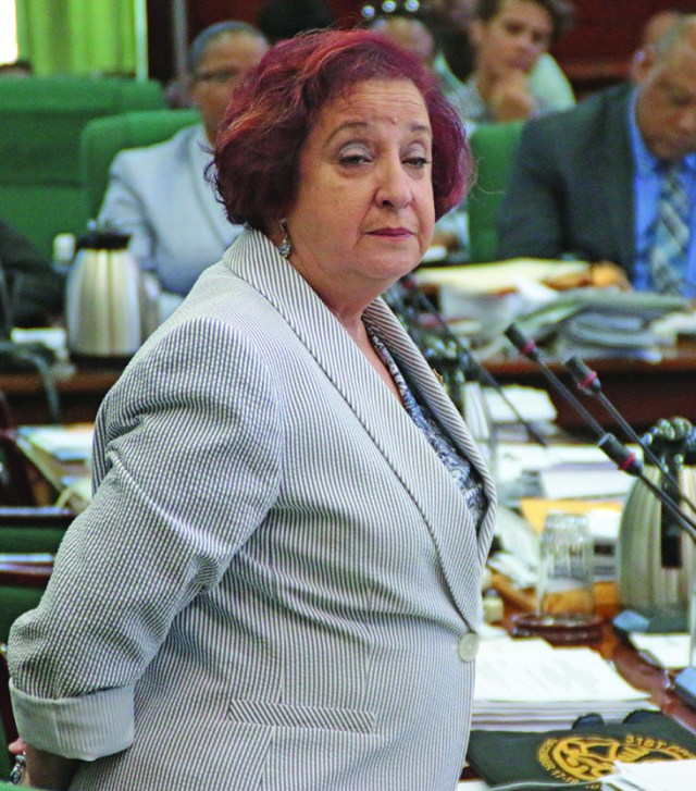 Opposition PPP/C Chief Whip, Gail Teixeira