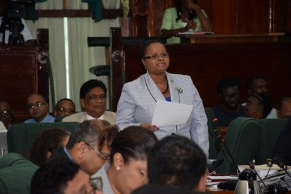 Minister of Social Protection, Volda Lawrence during her 2017 budget debate