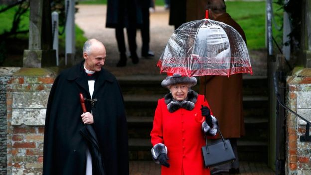 The Queen, seen here leaving the service at Sandringham in 2015, attends church every Christmas Day (Reuters photo)