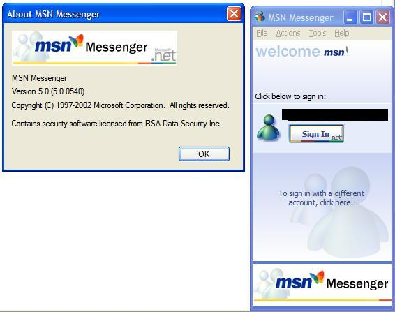 MSN Messenger 5