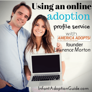 Using an online adoption profile service