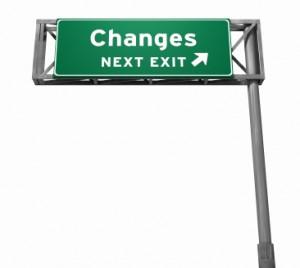 changes next exit sign