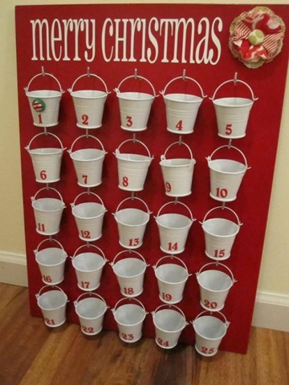 galvanized pail advent calendar
