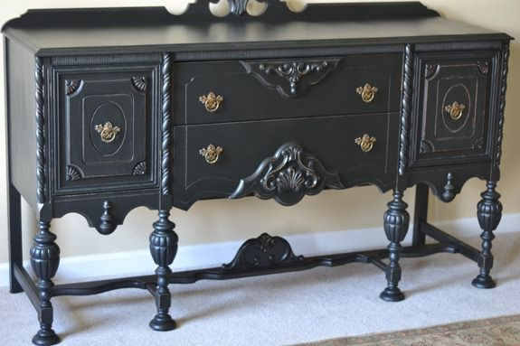 antique sideboard makeover