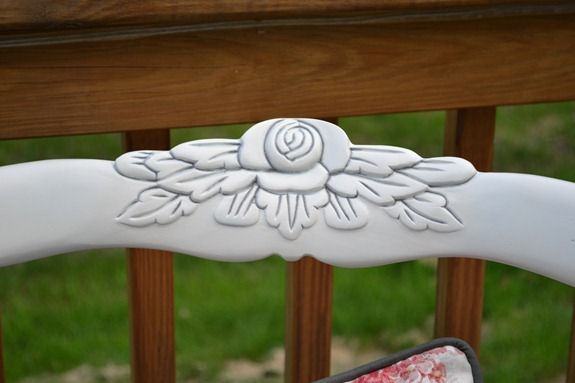 rose carved chair