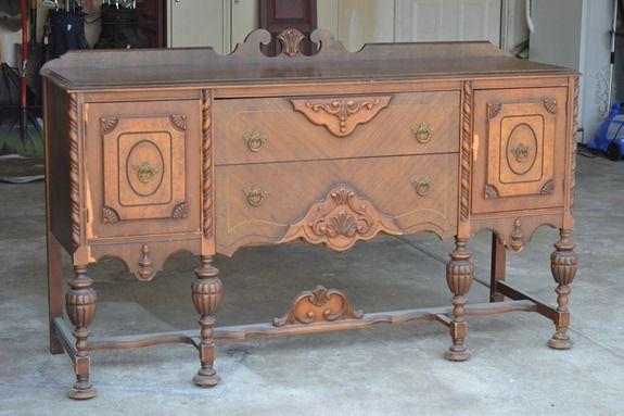 antique sideboard makeover (6)