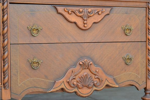 antique sideboard makeover (8)