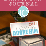 "Christmas Printable Journal ""Oh Come Let Us Adore Him"""