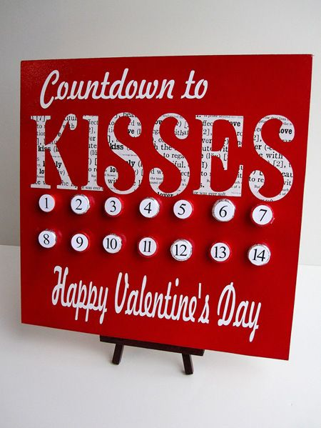 Valentine's Day Kiss Countdown