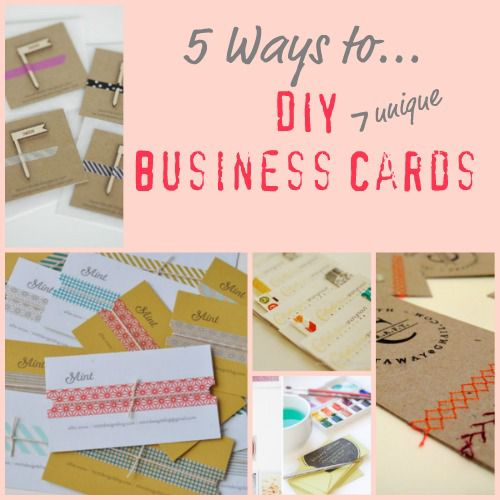 5 Ways to Make Unique Business Cards