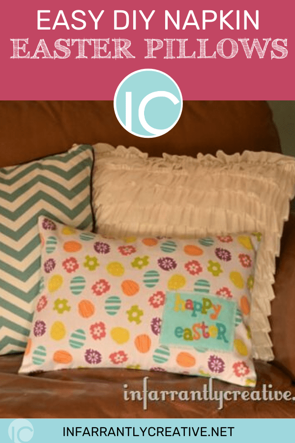 DIY Easter Pillows Using Napkins