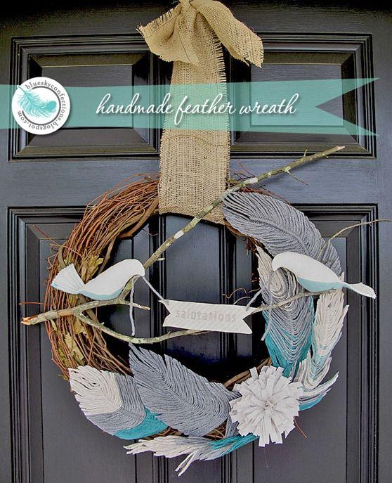 bird and feather wreath