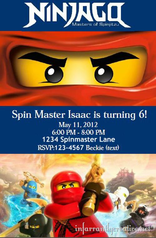 ninjago invite