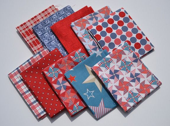 Stars and stripes fabric - riley blake