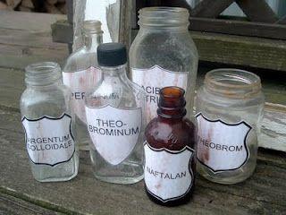 Found Pharmacy Bottles