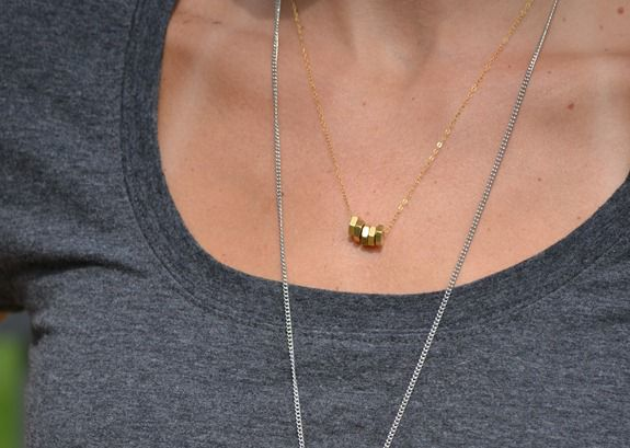 hex nut necklace