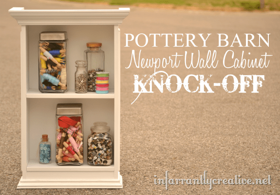 pottery barn wall shelf knock off