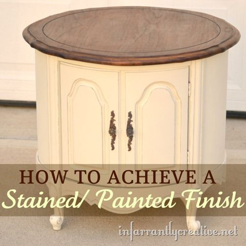 Painted Stained Table