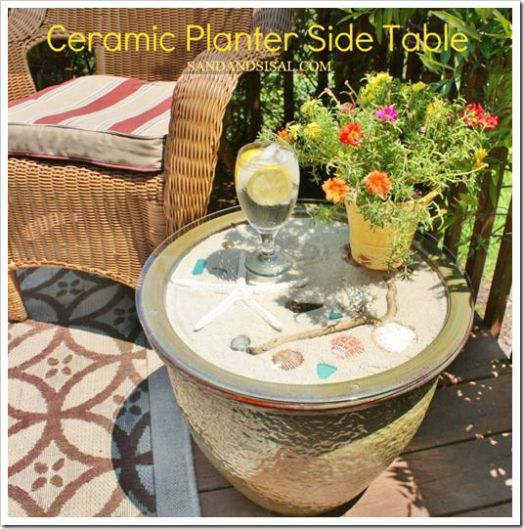 Ceramic Planter Table