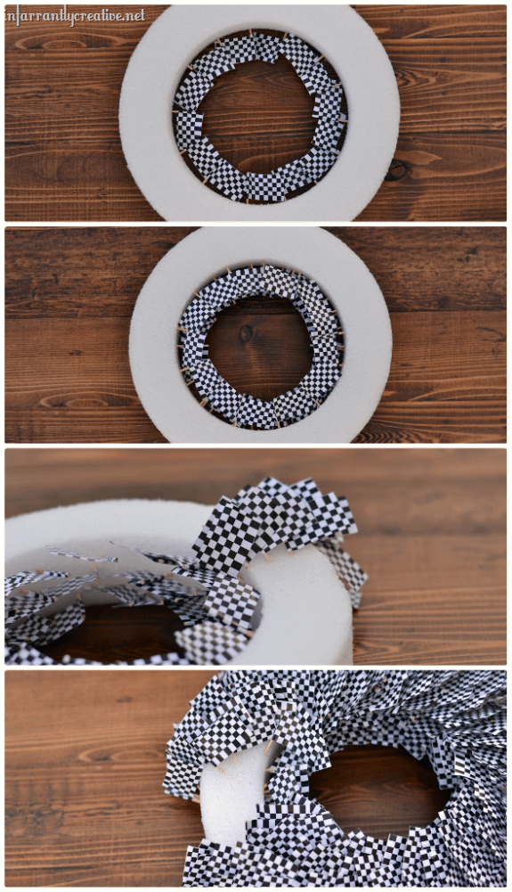 how to make a toothpick wreath