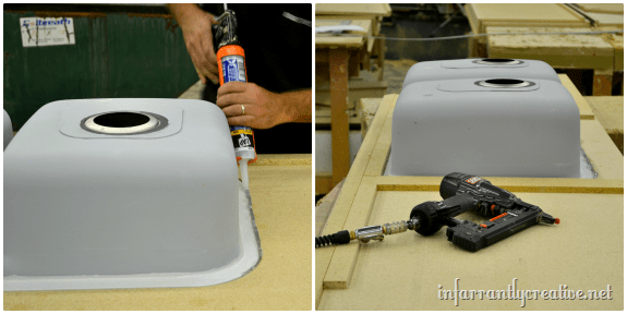 installing undermount sink
