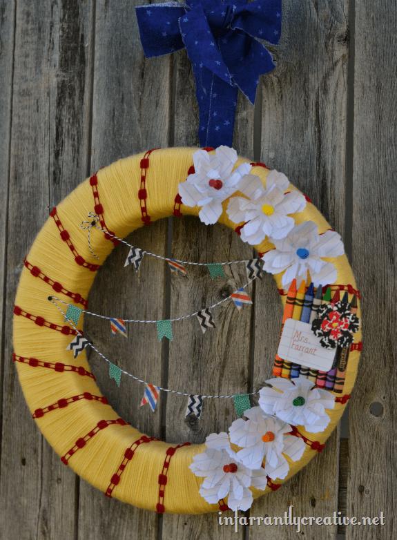 classroom wreath