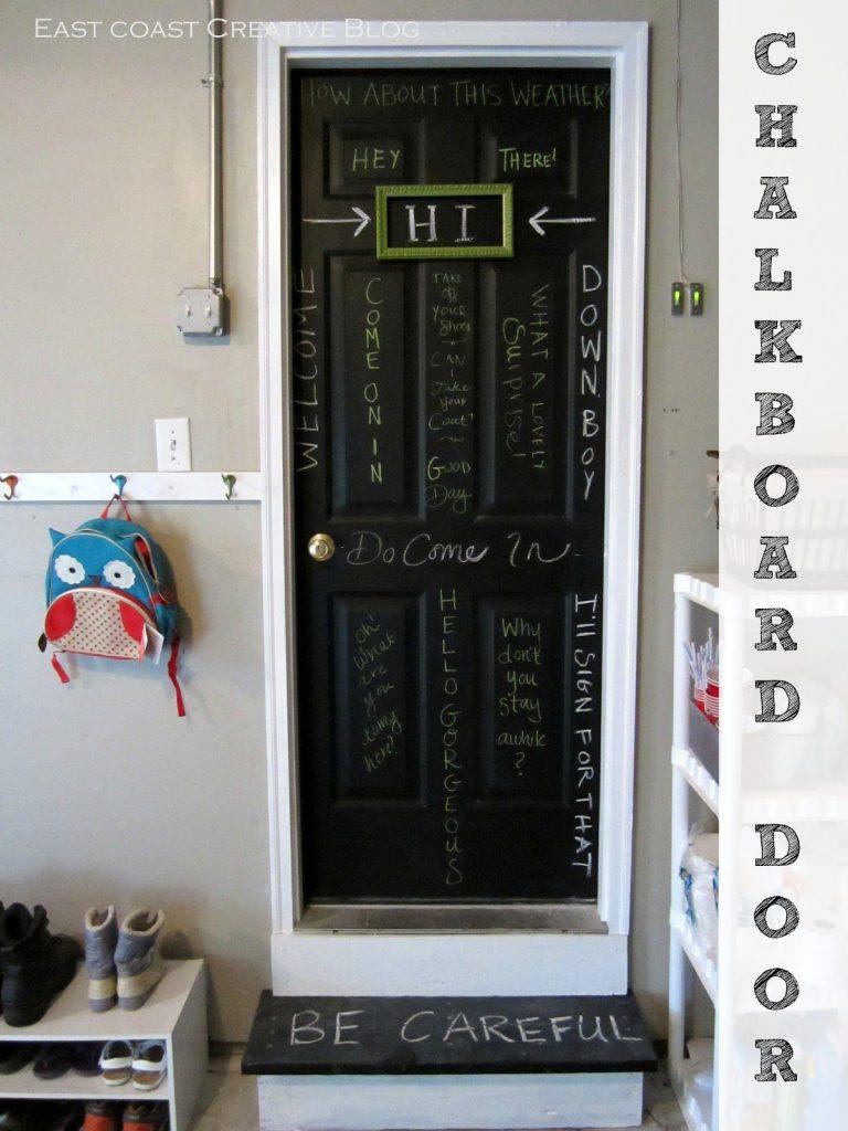 Save & Chalkboard Door - Infarrantly Creative