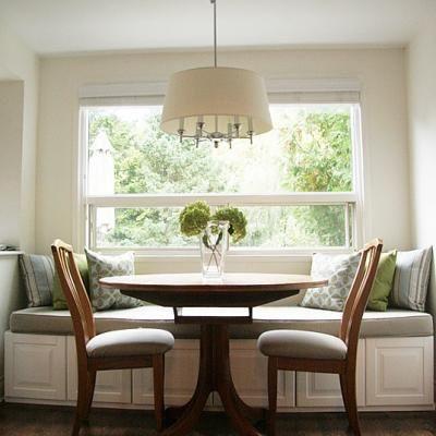 Little House Blog Ikea cabinet banguette