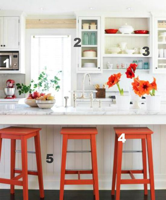 Midwest Living kitchen numbered