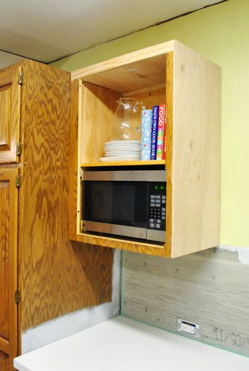 Young House Love microwave shelf