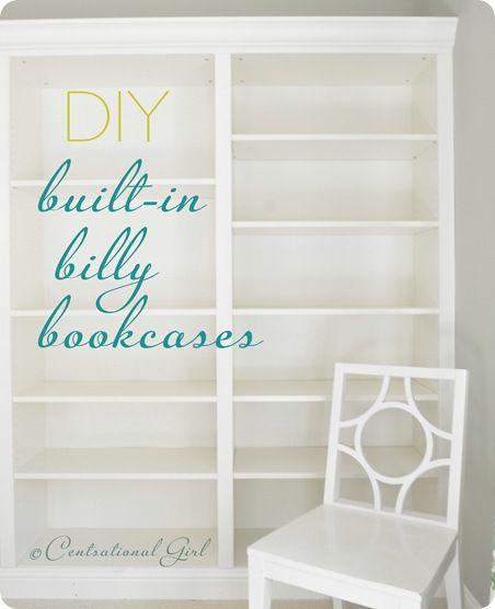 Centsational Girl diy bookcases