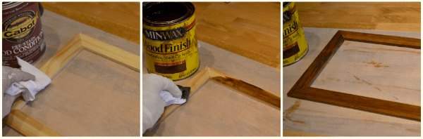 staining-a-picture-frrame