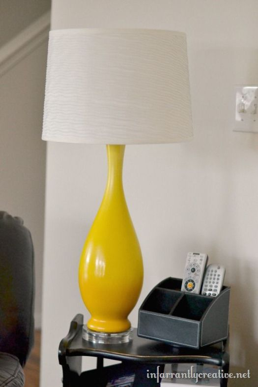 Infarrantly Creative painted lamp