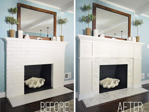 Young House Love fireplace makeover