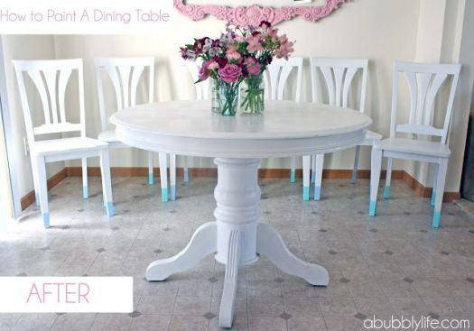 A Bubbly LIfe white dining chairs