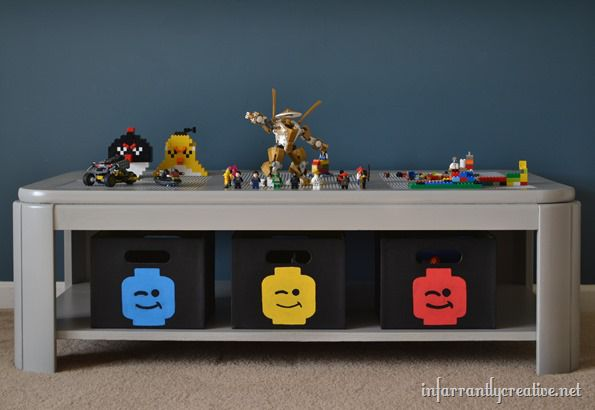 diy lego table transformation infarrantly creative. Black Bedroom Furniture Sets. Home Design Ideas
