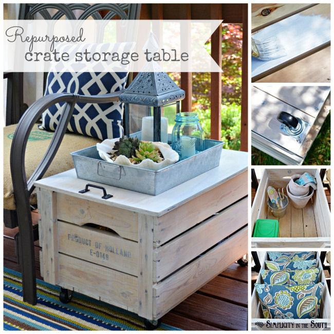 Ingenious Repurposing Unusual Kitchen Islands And Printers: Repurposed Wooden Shipping Crate Table