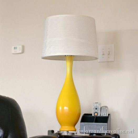 Infarrantly Creative yellow lamp