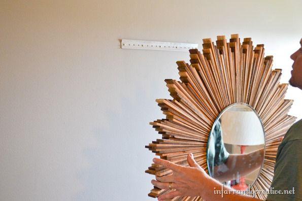 hanging the starburst mirror
