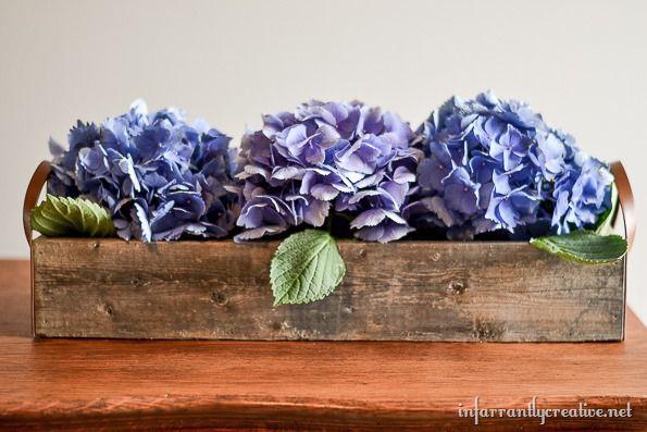 hyrdrangea flower centerpiece