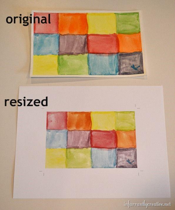 resizing art work for frames