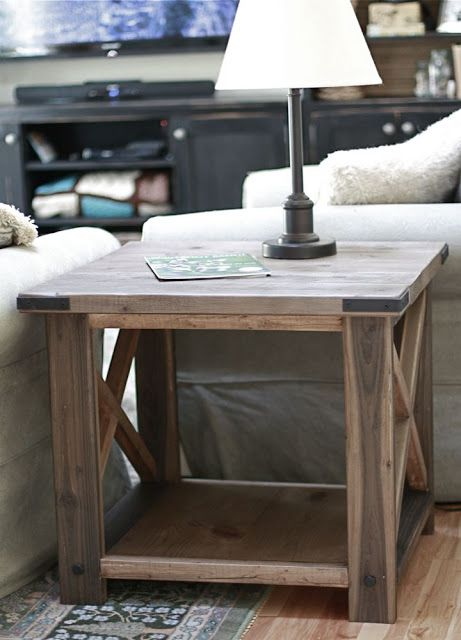 Ana White rustic x end table