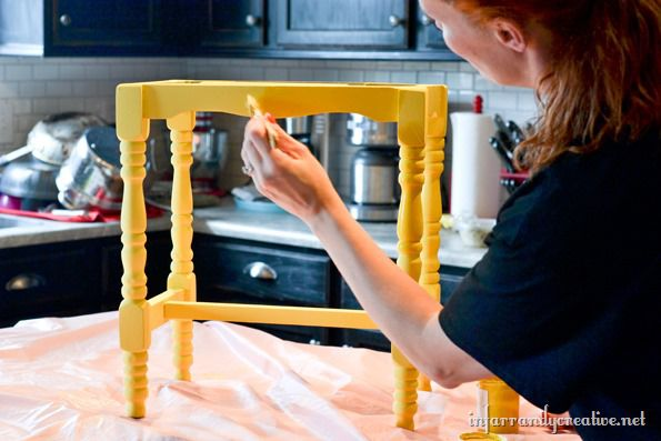 painting the stool