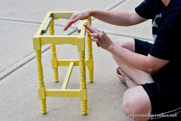 distressing the stool